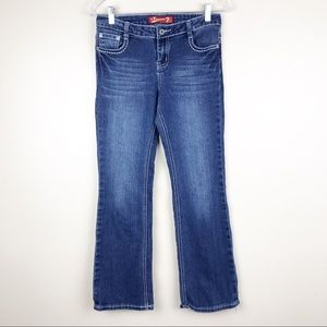 Seven7 Boot Cut Medium Star Pocket Girl's Jeans